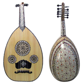 Gawharet El Fan Super Deluxe Mother Of Pearl Egyptian Oud - Repaired - MOP 1-R
