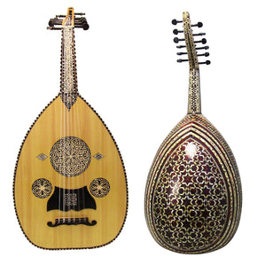Gawharet El Fan Super Deluxe Mother Of Pearl Egyptian Oud - Repaired - MOP 2-R