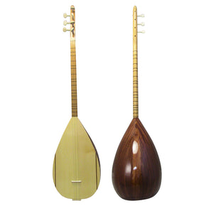 Zaza Percussion - Beginner/Intermediate Turkish Saz Baglama Dark Mahogany Short Neck