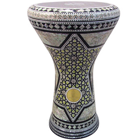 "The Craspedia Gawharet El Fan 17"" Mother of Pearl Darbuka"