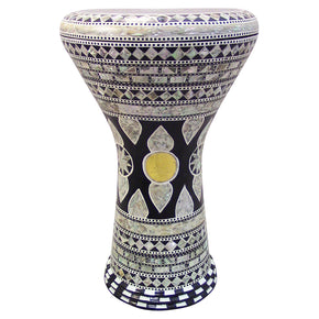 "The Black Rosa Gawharet El Fan 17"" Mother of Pearl Darbuka"