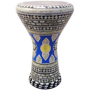 "The Blue Rosa Gawharet El Fan 17"" Mother of Pearl Darbuka"