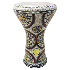 "The Calendulas Gawharet El Fan 17"" Mother of Pearl Darbuka"