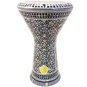 The 17.5'' NG2.0 Arachidamia Darbuka Doumbek With Green Mother of Pearl Gawharet El Fan