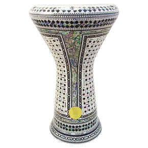 The 17.5'' NG2.0 Zenobia Darbuka Doumbek With Green Mother of Pearl Gawharet El Fan