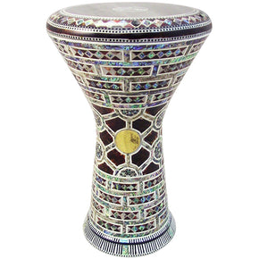 The 17.5'' NG2.0 Myrina Darbuka Doumbek With Green Mother of Pearl Gawharet El Fan