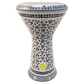 The 17.5'' NG2.0 Helenus Darbuka Doumbek With Green Mother of Pearl Gawharet El Fan