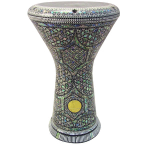 The 17.5'' NG2.0 Ixion Darbuka Doumbek With Green Mother of Pearl Gawharet El Fan