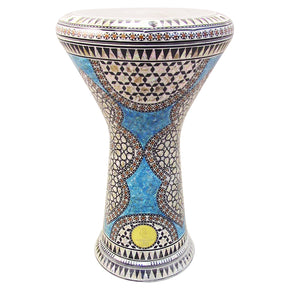 The 17.5'' Blue Shield New Generation 2.0 Gawharet El Fan Darbuka Doumbek