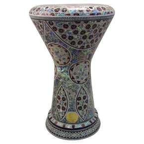 "The Taharqa  NG 2.0 Sombaty Gawharet El Fan 18.5"" Darbuka With Real Blue Mother of Pearl"