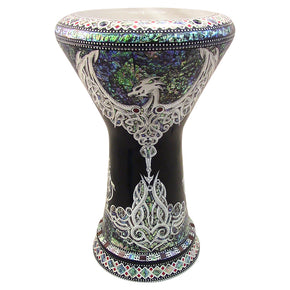"The Black Dragon NG 2.0 Sombaty Gawharet El Fan 18.5"" Darbuka With Real Blue Mother of Pearl"