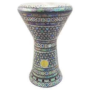 "The Ezana NG 2.0 Sombaty Gawharet El Fan 18.5"" Darbuka With Real Blue Mother of Pearl"