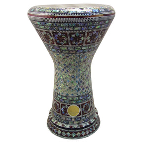 "The Kerma NG 2.0 Sombaty Gawharet El Fan 18.5"" Darbuka With Real Blue Mother of Pearl"