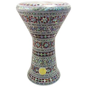 "The Urambo NG 2.0 Sombaty Gawharet El Fan 18.5"" Darbuka With Real Blue Mother of Pearl"