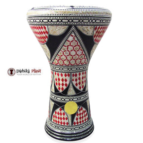 The 17'' Red Glare Gawharet El Fan Darbuka Doumbek