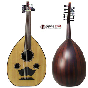 "El-Masry ""The Egyptian Spirit"" Professional Egyptian Oud + Professional Case-Cat#M99 - Repaired"