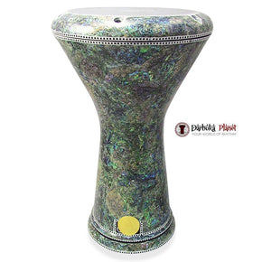 New Generation 2.0 Isis Darbuka Doumbek With Green Mother of Pearl Gawharet El Fan