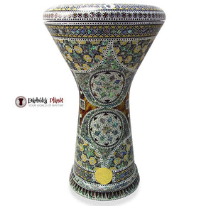 New Generation 2.0 Babi Darbuka Doumbek With Green Mother of Pearl Gawharet El Fan