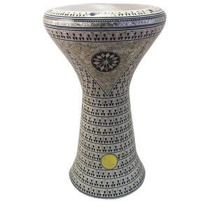 The 21'' White Pearl Sombaty XL Gawharet El Fan Darbuka