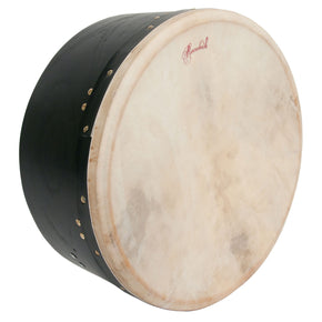 "Roosebeck Tunable Mulberry Bodhran Single-Bar 16"" x 7"" - Black"