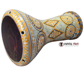 "The Orange Sun Gawharet El Fan Darbuka 17"" Drum With REMO Orange Mist Drum Head"