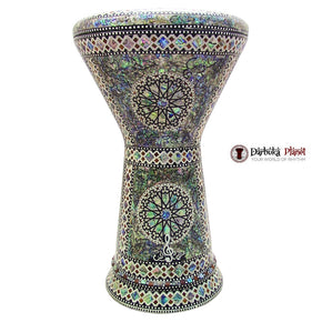 "The Green Sun NG 2.0 Sombaty Gawharet El Fan 18.5"" Darbuka With Real Green Mother of Pearl"