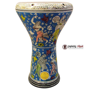 The 17'' Blue Madame Egyptian Gawharet El Fan Darbuka Doumbek