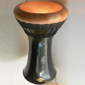Savvas- The Glossy Black design Medium Bass Darbuka