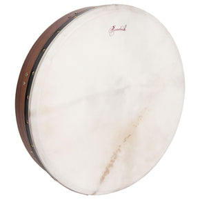 Roosebeck Tunable Sheesham Bodhran Cross-Bar Soft Natural Head 18-by-3.5-Inch