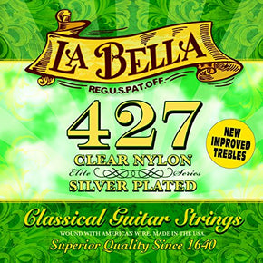 La Bella 427 Classical Guitar Strings - Medium Tension - Silver-Plated Copper Wound