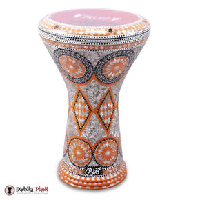 "The Orange Sun Gawharet El Fan Darbuka 17"" Drum"