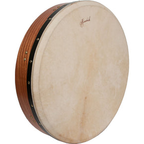 Roosebeck Tunable Red Cedar Bodhran Cross-Bar Double-Layer Natural Head 18-by-3.5-Inch