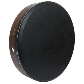 "Roosebeck Tunable Sheesham Bodhran Cross-Bar 18""x3.5"", Black Goat Skin"