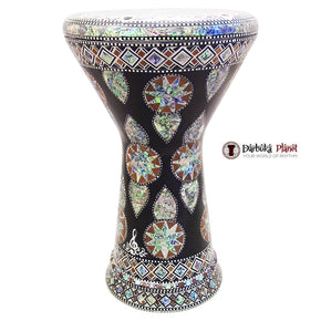 "The Egyptian Star Light NG 2.0 Sombaty Gawharet El Fan 18.5"" Darbuka With Real Green Mother of Pearl"