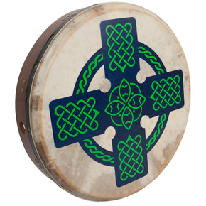 Roosebeck Tunable Sheesham Bodhran Cross-Bar 18-by-3.5-Inch - Celtic Cross