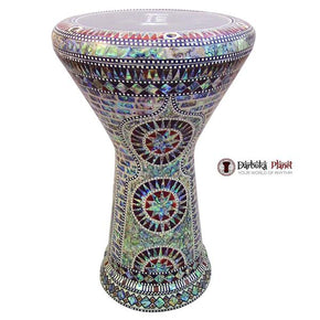 "The Desert Sun NG 2.0 Sombaty Gawharet El Fan 18.5"" Darbuka With Real Blue Mother of Pearl"