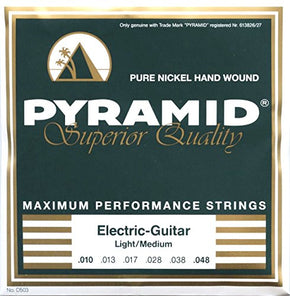 Pyramid Pure Nickel Hand Wound Electric Guitar Strings Light/Med 10-48 (D503)