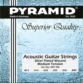 "Pyramid Acoustic Guitar ""Silver Plated"" Set, medium"