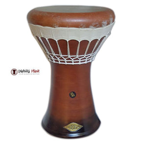 "SAVVAS & ZAZA Percussion Joint Venture - ""Solo Brown"" Earth Solo Clay Darbuka with white Skin"