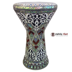 "The Arabian Garden rn NG 2.0 Sombaty Gawharet El Fan 18.5"" Darbuka With Real Green Mother of Pearl"