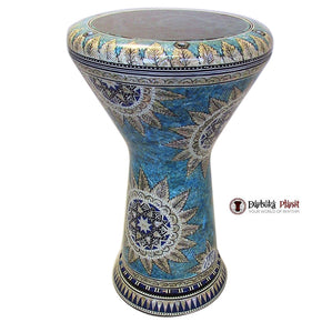 The Sea Star NG 2.0 Sombaty Gawharet El Fan 18.5 Darbuka With Remo Turquoise Skin Head