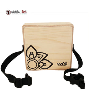 MashBox By Kandu -The first-ever wearable drum shaker,small Cajon - Natural Wood