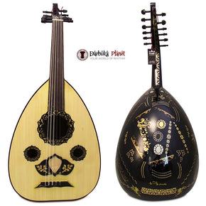 "El-Masry ""Black Garden"" Professional Egyptian Oud + Professional Case-Cat#OMB-100"