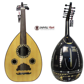"El-Masry ""Black Garden"" Professional Egyptian Oud + Professional Case-Cat#OMB-100A"