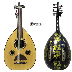 "El-Masry ""Black Garden"" Professional Egyptian Oud + Professional Case-Cat#OMB-100D"