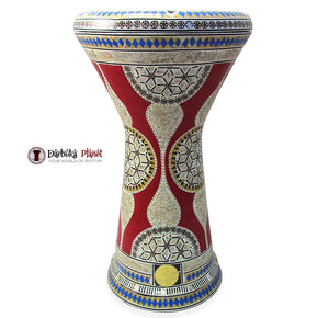 The 21'' Red Shield Sombaty XL Gawharet El Fan Darbuka