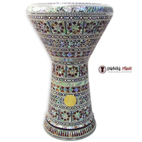 "The Zeus NG 2.0 Sombaty Gawharet El Fan 18.5"" Darbuka With Real Blue Mother of Pearl"