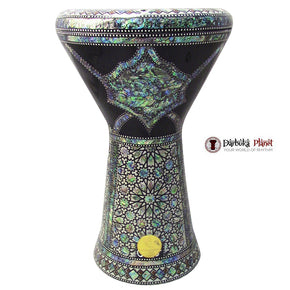 "The Vulcan NG 2.0 Sombaty Gawharet El Fan 18.5"" Darbuka With Real Blue Mother of Pearl"