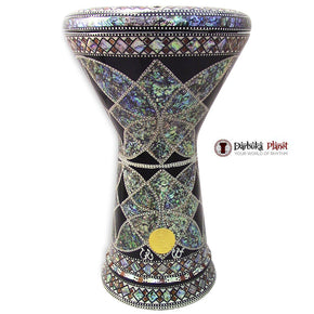 "The Black Lotus NG 2.0 Sombaty Gawharet El Fan 18.5"" Darbuka With Real Blue Mother of Pearl"