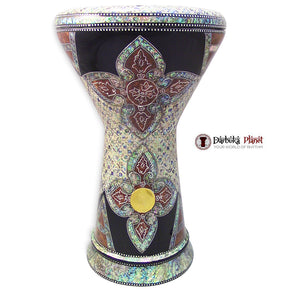 "The Red Lotus  NG 2.0 Sombaty Gawharet El Fan 18.5"" Darbuka With Real Blue Mother of Pearl"